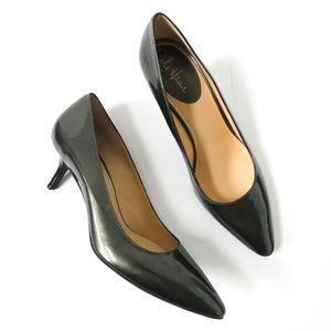 NEW Cole Haan Womens Career Heels Patent Green 10B